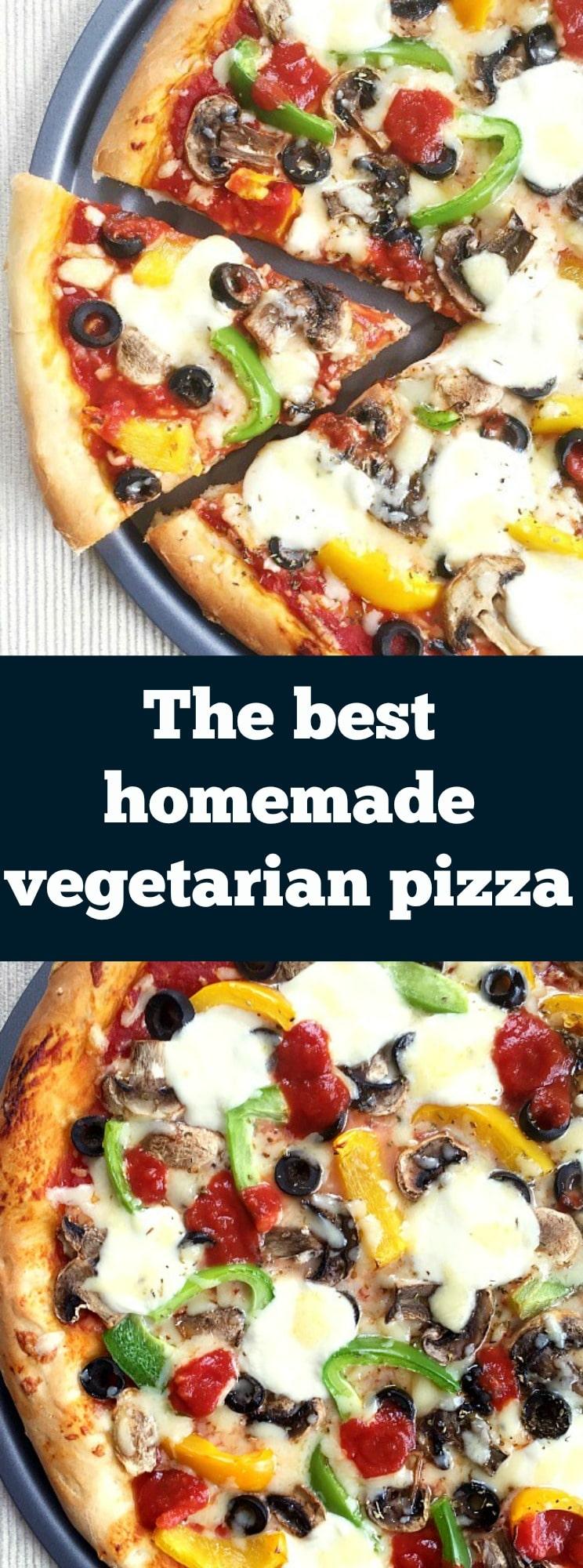 The best homemade vegetarian pizza