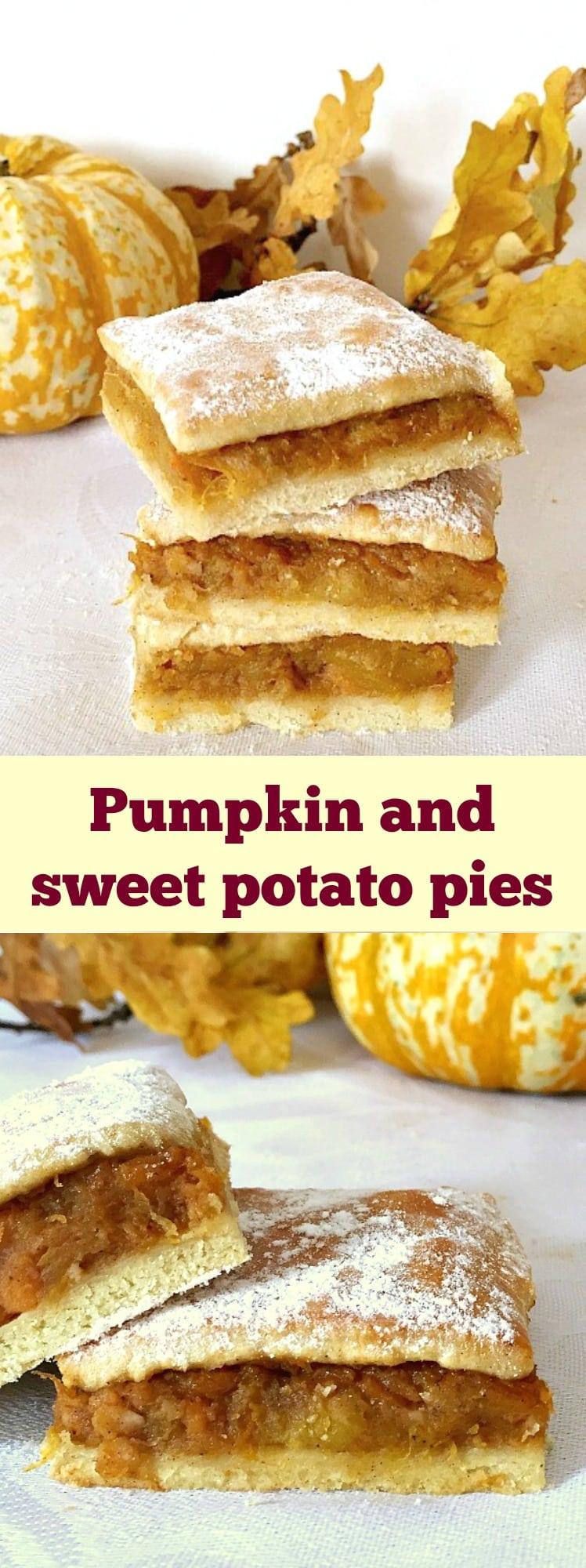 Pumpkin and sweet potato pies