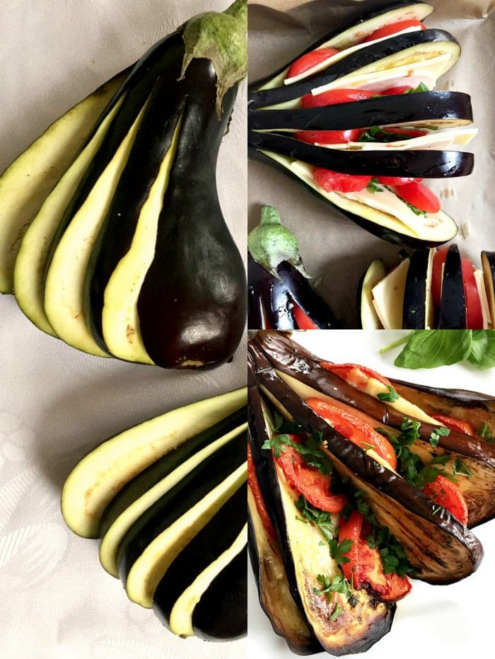 Roasted eggplant fan