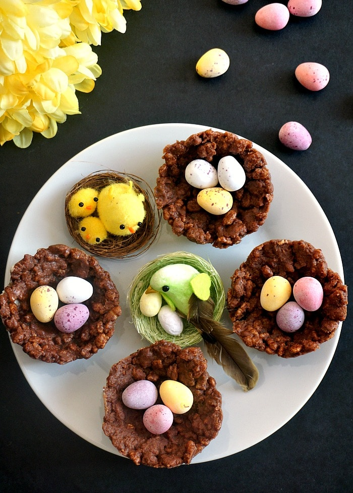 Chocolate Rice Krispie Easter Nests - My Gorgeous Recipes