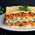 Turkey, spinach and ricotta lasagna
