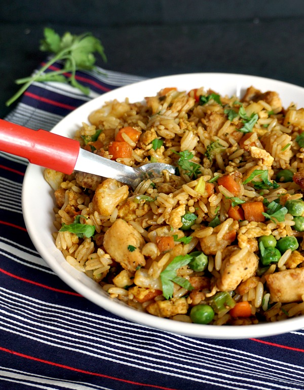 Healthy Chinese Chicken Egg Fried Rice