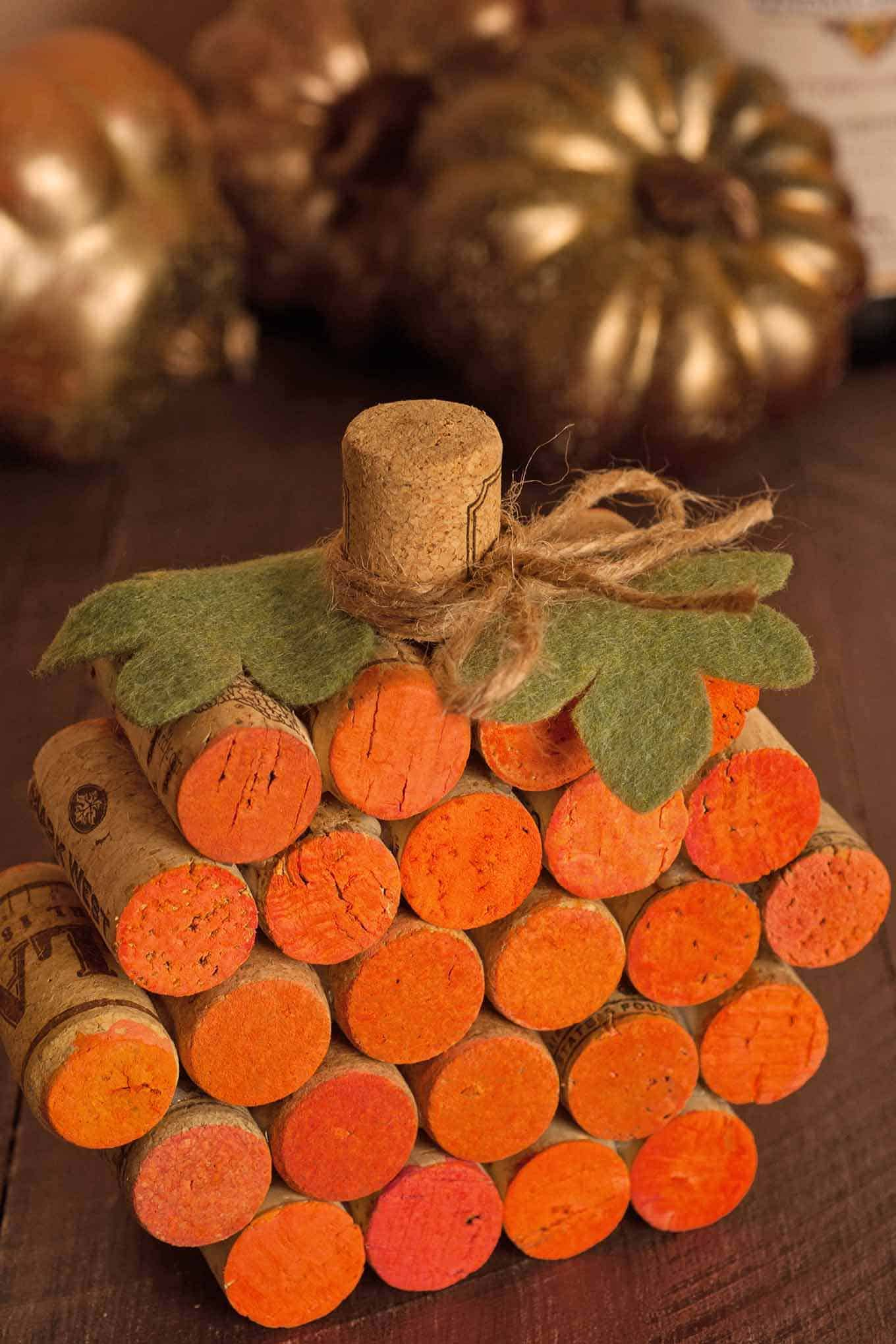 Diy Table Decor How To Make A Wine Cork Pumpkin