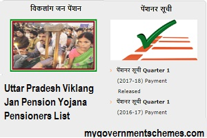 Uttar Pradesh Viklang Jan Pension Yojana Pensioners List