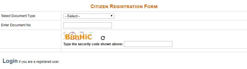 Citizen Registration Form
