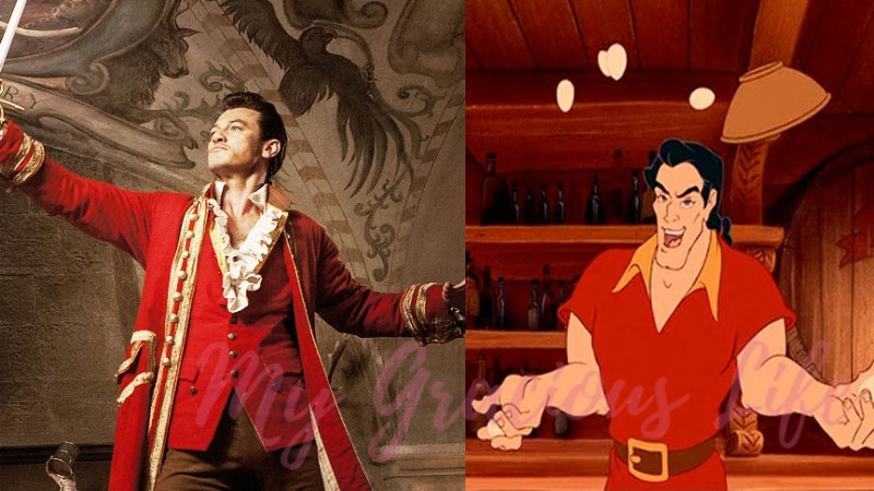 luke evans or richard white as gaston from beauty and the beast