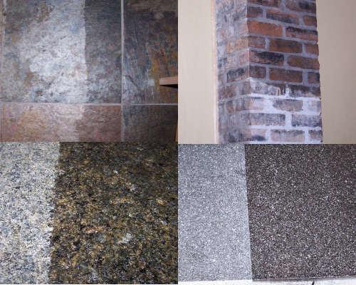 Honed vs polished granite