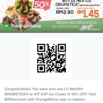 FREE 50%off Nestle Drumstick Discount Coupon Giveaway!