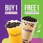 Chatime Buy 1 FREE 1 Promo!