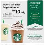 Starbucks Offer Tall sized Frappuccino at RM10 only!