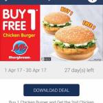 Marrybrown Offer Buy 1 FREE 1 Burger Deal!