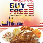 Kenny Rogers ROASTERS Buy 1 FREE 1 Deal! – 烤鸡买1送1优惠!
