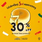 Uncle Tetsu Cheesecake 3rd Anniversary Special Deal! – Uncle Tetsu芝士蛋糕周年优惠!