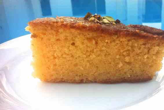 Greek Revani Semolina Coconut Cake Recipe