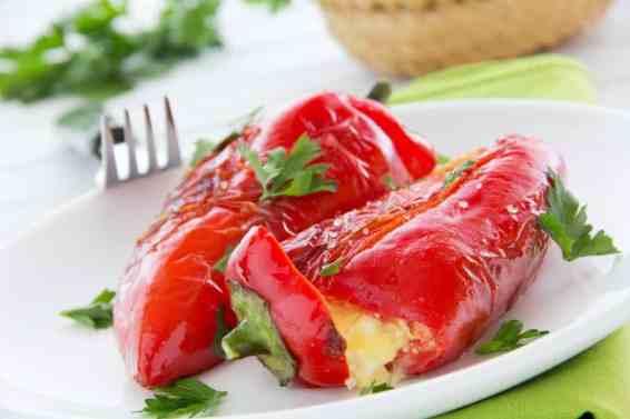 Greek Stuffed Peppers with Feta Cheese Recipe