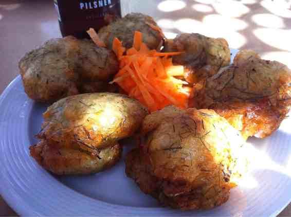 Tinos Fennel Fritters (Marathokeftedes)