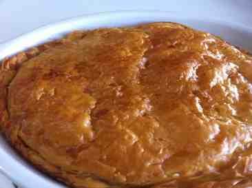 Bougatsa - Custard pie with Phyllo and ground cinnamon