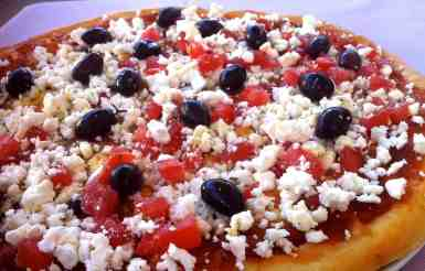 Crispiest Homemade Greek Pizza