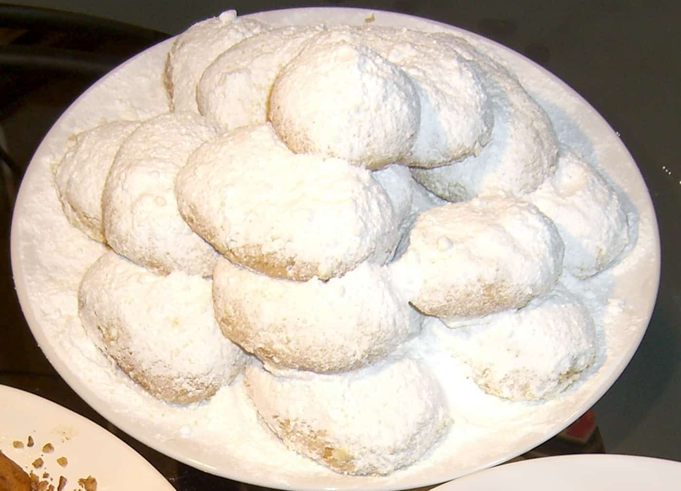 recipes kourampiedes powdered sugar rosewater butter cookies my
