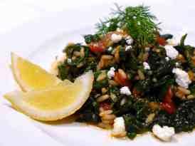 Spanakorizo recipe (Greek spinach rice)-1