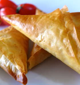 Greek Feta Cheese Triangles Recipe (Tiropitakia)