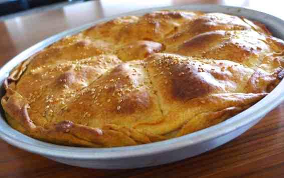 Traditional Greek Leek Pie recipe (Prasopita)-5