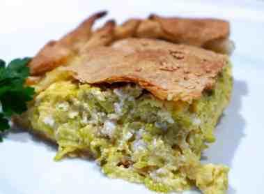 Traditional Kolokithopita recipe with homemade Phyllo (Greek Zucchini pie)