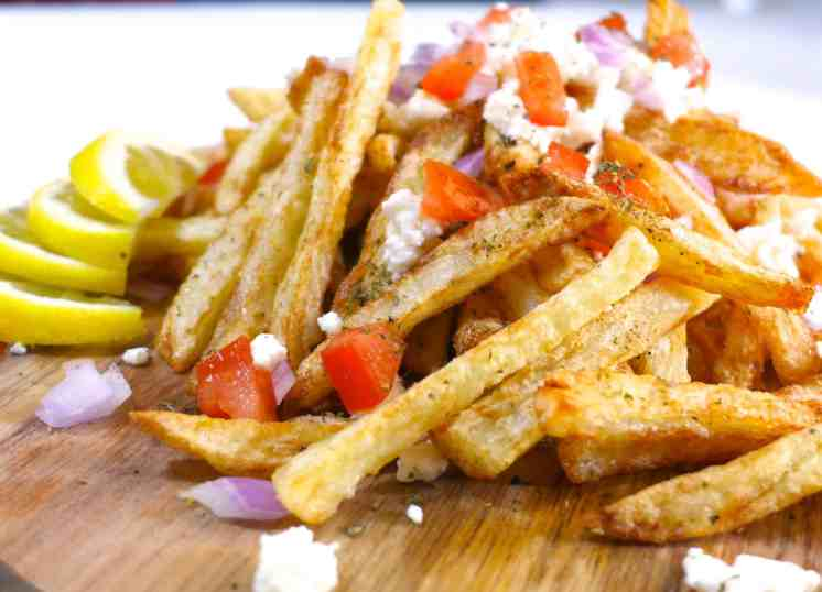 Homemade Baked Greek Fries recipe with feta cheese-2