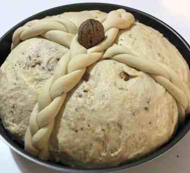 Christopsomo recipe (Greek Christmas Bread)-prep8
