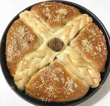 Christopsomo recipe (Greek Christmas Bread)- prep9