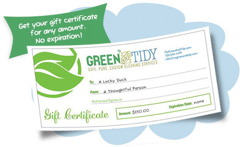 Green And Tidy Gift Certificates Green And Tidy Cleaning