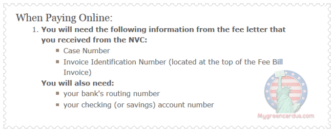 nvc payment