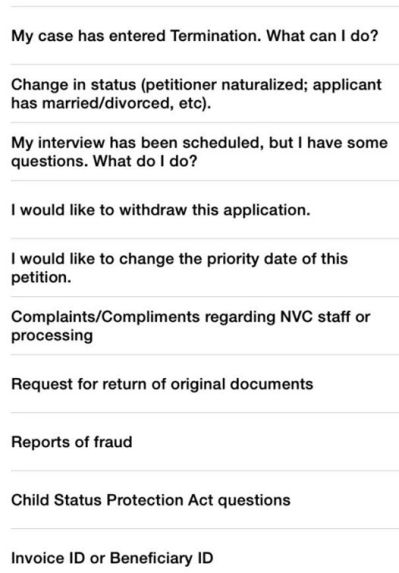 ติดต่อ NVC ทาง Email โดยใช้แบบฟอร์ม online