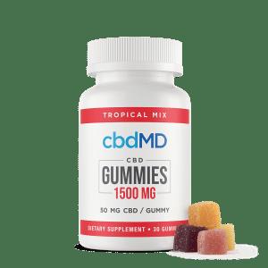 cbdMG 1500 mg gummies