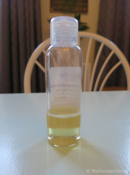 Castile soap before dilution