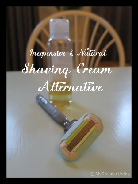 Inexpensive & Natural Shaving Cream Alternative - castile soap and disposable cartridge razor