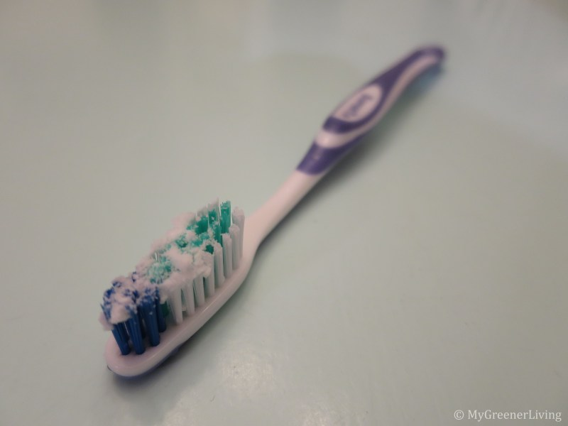 toothbrush with natural toothpaste alternative - toothpaste