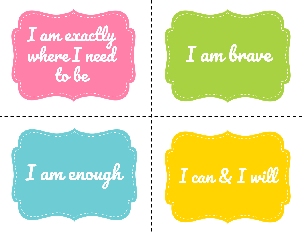 My Group Guide Free Positive Affirmation Cards