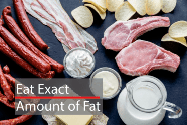 Eat exact amount of fat for hair growth