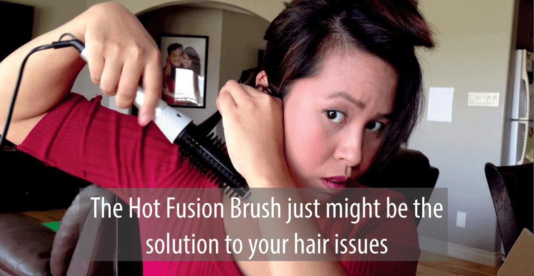fusion hair straightening brush reviews