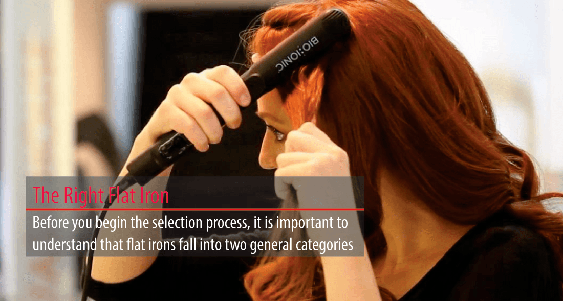 Choosing the right flat iron for your hair