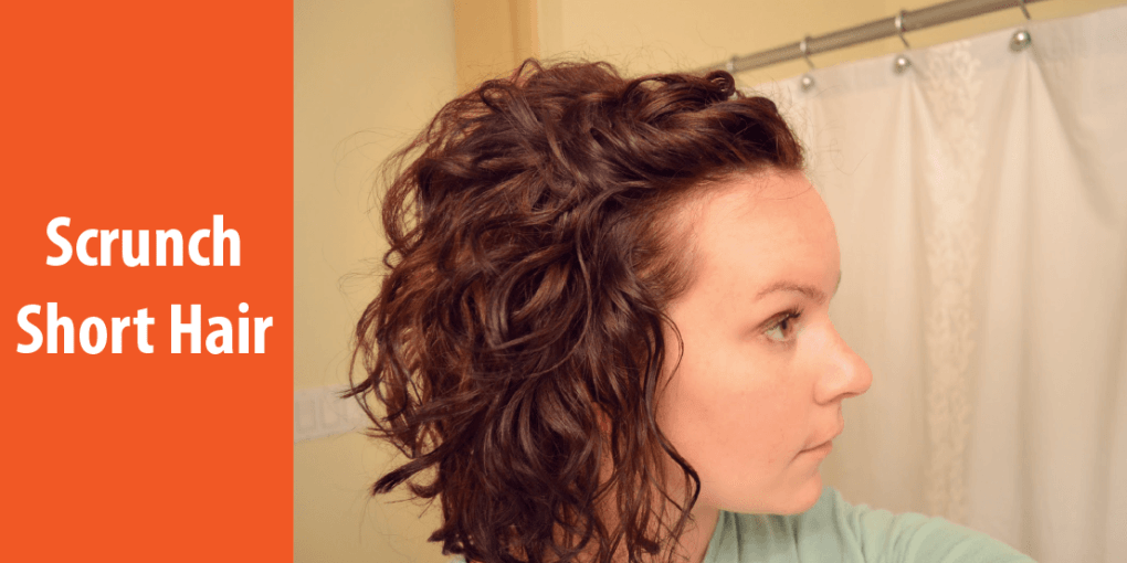 how to scrunch short hair
