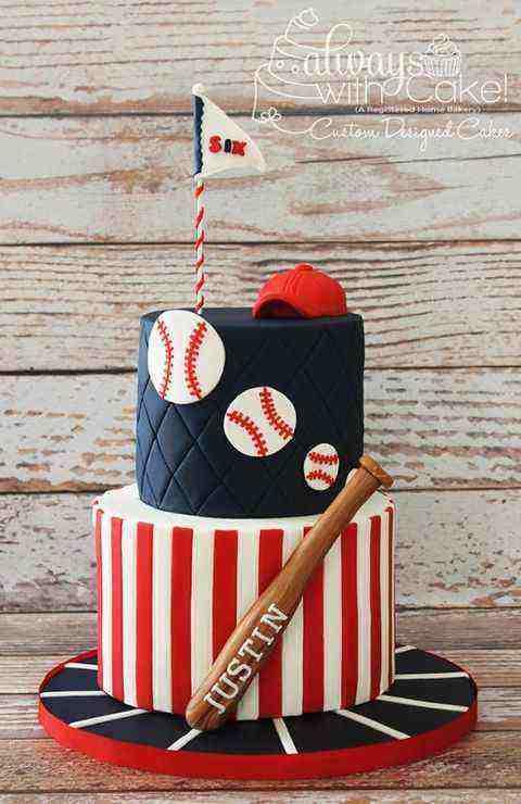 baseball themed birthday cake pictures