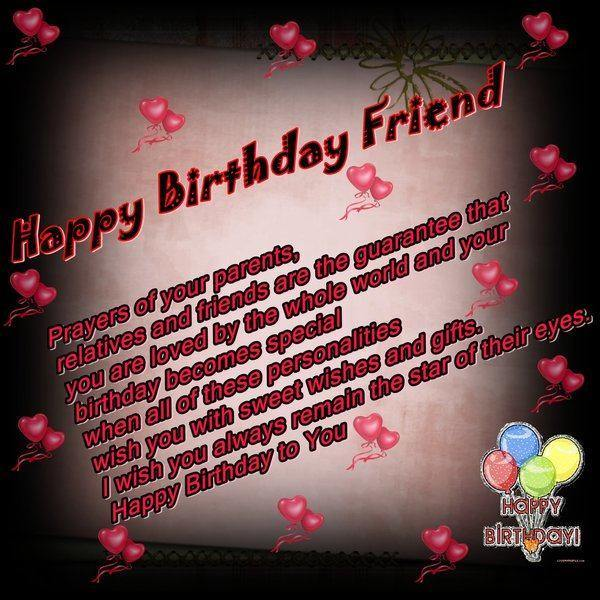 lovely birthday wishes for friend