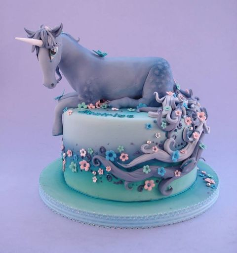 Unicorn Designed birthday cake pictures