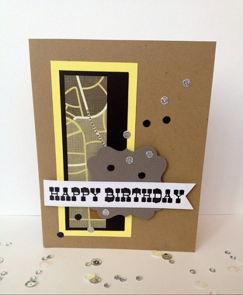 Yellow and Black Handmade Greeting Cards