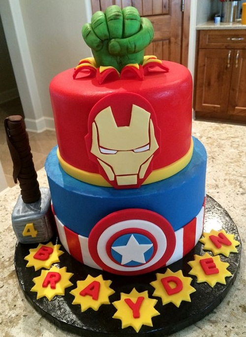 Avengers Images of Birthday Cakes