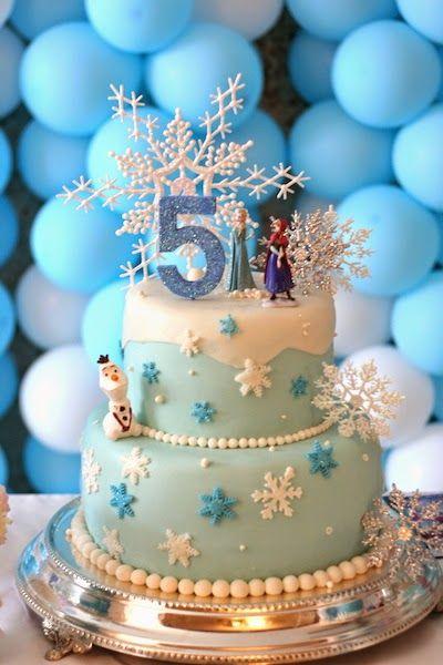 21 Disney Frozen Birthday Cake Ideas And Images My Happy Birthday