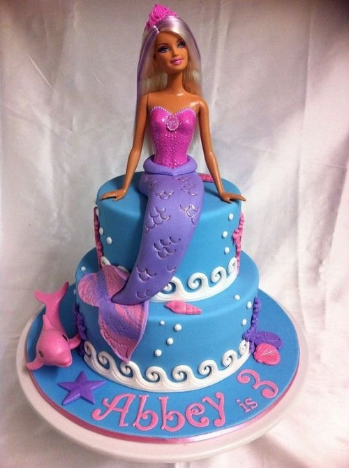 Barbie Mermaid Birthday Cakes for Girls