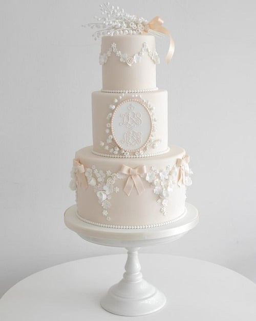 Elegant Christening Cakes for Girls
